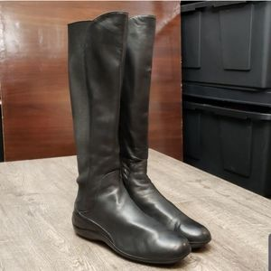 AGL Leather And Neoprene Upper Tall Boots 909514